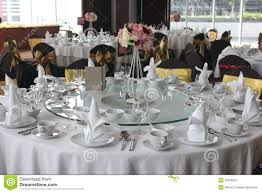 Table Settings For Dinner Table Setting For A Wedding Stock Image Image 34206227