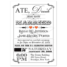 post wedding reception invitations post wedding invitation 7 vintage poster chalkboard scrolls