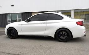 matte white bmw m235 with 18