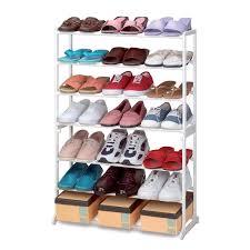 new shoe stand storage rack organiser shelves 7 tier 21 pairs 10