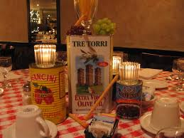 Restaurant Decoration Italian Themed Party Supples Why The Table Decoration At
