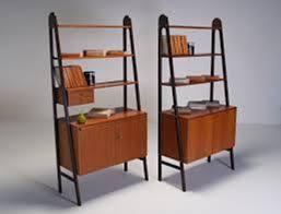 mid century modern bookcase with glass doors mid century modern