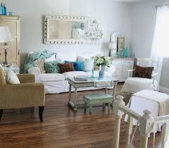 ektorp sofa ikea living room shabby chic style with framed mirror