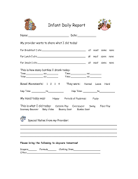 Daily Report Sheet Template The 25 Best Infant Daily Report Ideas On Infant