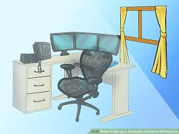 how to set up a computer centered workspace 13 steps