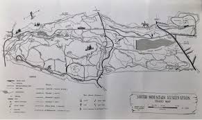 Map Of Essex County Nj Trails Of The South Mountain Reservation Circa 1990 Essex County