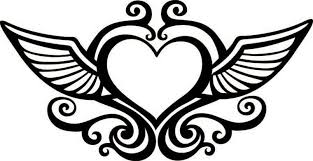 Hearts With Wings - wings clipart black pencil and in color wings clipart