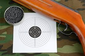 shooting air rifle tin of the bank to pellets target background