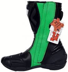 sport riding boots motorbike racing sport boots colour green black