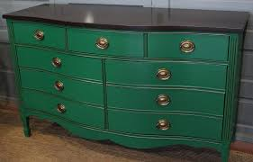 green bureau dresser in a custom mixed green paint general finishes