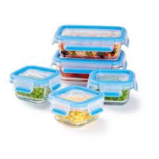 zyliss fresh glass food storage container 10 piece set e981047u