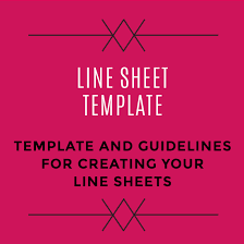Sheet Template Wholesale Line Sheet Template Startup Fashion