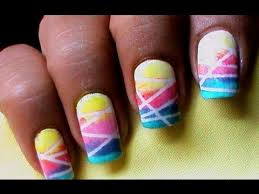 nail art designs with sponge youtube