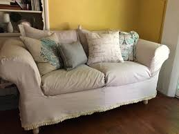 No Sew Slipcover For Sofa by Chic Drop Cloth Slipcover Sofa 117 No Sew Drop Cloth Sofa
