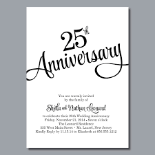 Invitation Card Format For Farewell To Seniors 25th Wedding Anniversary Invitation U2013 Diy Printable Or Printed