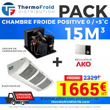 chambre froide positive d occasion cf 15m3ak complet à 1 665 00 chez thermofroid distribution