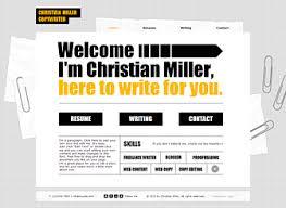 Sample Resume For Freelance Writer by Copywriter Cv Website Template Wix