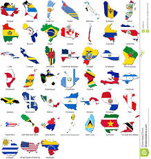 Country Flags Of The World World Flags Country Border American Set Stock Illustration