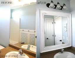 Remove Mirror Glued To Wall Diy Framed Mirror Tutorial