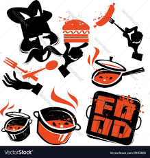 cooking logo design template kitchen or royalty free vector
