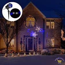 Led Snowflake Lights Outdoor by Led Christmas Lights Outdoor Lightshow House Projection Snowflakes