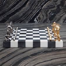 dichotomy chess set by kelly wearstler