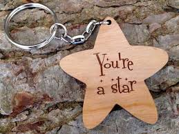 star key rings images Personalised star shaped wooden keyring whatnot wood craft jpg