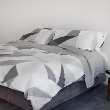 cotton percale duvet cover graphic geometric printed luxury
