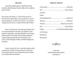 programs for funeral services best photos of obituary outline program sle obituary funeral