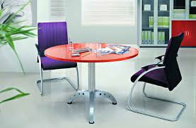Small Boardroom Table Furniture Beautiful Small Orange Table Top With Metal Leg Round