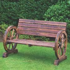 gardening bench wagon wheel garden bench design decoration
