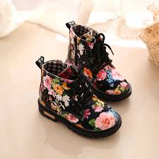 s lace up boots size 12 floral shoes baby fashion lace up martin boots children