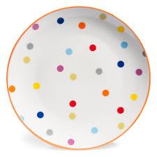 assiette de porcelaine assiette plate à pois en porcelaine d 26 cm confettis maisons du