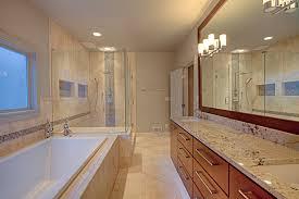 dark brown vanity double sink wood master bathroom rectangular