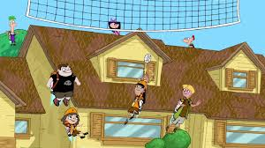 Phineas And Ferb Backyard Beach Game Image 326a Ginger Hits It Jpg Phineas And Ferb Wiki Fandom