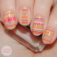a little polish incoco real nail polish appliques desert sunset