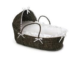 amazon com badger basket moses basket with hood and bedding