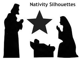 nativity silhouette free photos of printable nativity silhouettes