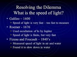 What Is The Speed Of Light Experimental History Leading To Quantum Theory Particles Versus