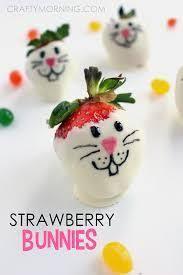 White Chocolate Covered Strawberries Kids Bunny Face Strawberries Bunny Face Bunny And Face