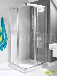 bathroom exciting corner shower kit with rain shower for modern