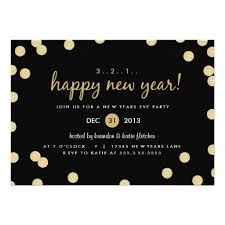 confetti new years party invitation card