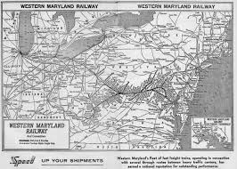 Map Of Maryland The Western Maryland Railway