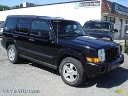jeep commander for sale 2006 jeep commander in black 296055 vannsuv com vans and