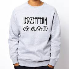 led zeppelin sweater led zeppelin runes zoso rock band metal grey heavy crewneck