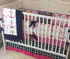 Aqua And Pink Crib Bedding by Anchor Crib Bedding Creative Ideas Of Baby Cribs
