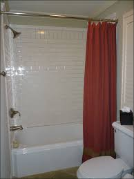 Bathtub Panel by Bathroom Mesmerizing Red Shower Curtain In Small Space Shower