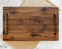 personalized serving platters gifts wood serving platter etsy