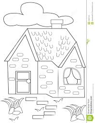 house coloring page stock illustration image 53482140
