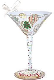 martini glass ornament silver